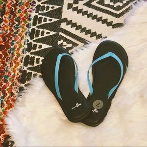 Sanuk Flip Flop Sandals in Aqua Blue